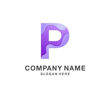 Buchstabe p-logo