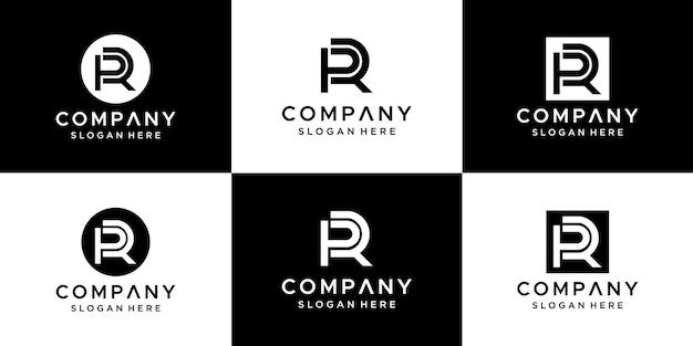 Buchstabe pr logo design