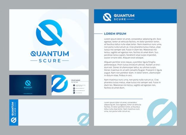 Buchstabe q quantum stationäre vorlage