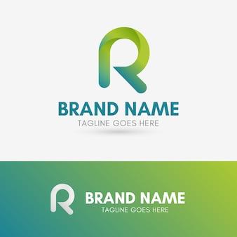 Buchstabe r abgerundetes logo