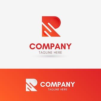 Buchstabe r drei linien logo
