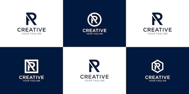 Buchstabe r inspirierendes logo-design