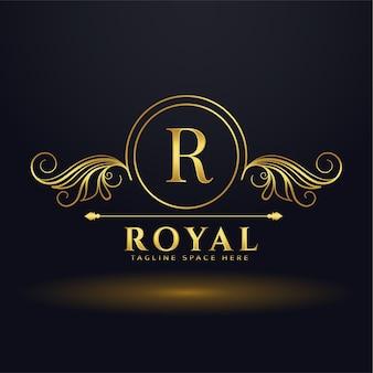 Buchstabe r königliches luxuslogo für ihre marke