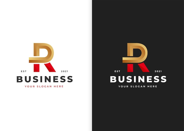 Buchstabe r logo-design-vorlage. vektorillustrationen