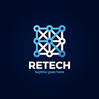 Buchstabe r tech-logo