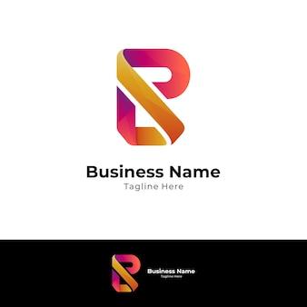 Buchstabe r und buchstabe l monogramm-logo-konzept