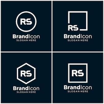 Buchstabe rs logo design