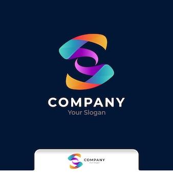 Buchstabe s bunte farbverlauf-logo-vorlage