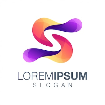 Buchstabe s farbverlauf logo