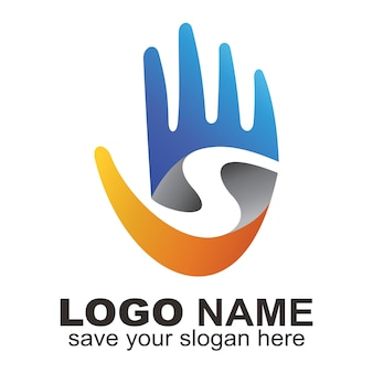 Buchstabe s hand logo