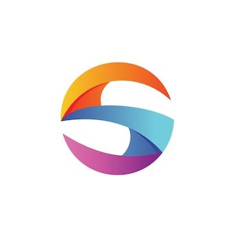 Buchstabe s kreis logo vector