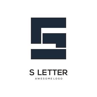 Buchstabe s logo-design-vorlage modern