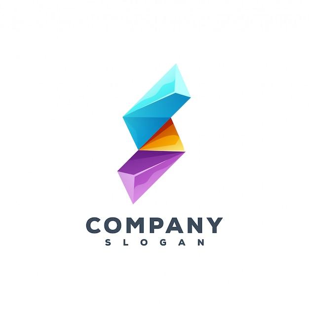 Buchstabe s logo-design