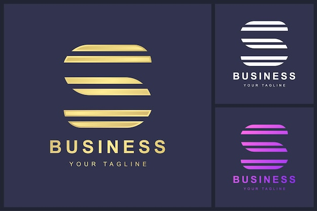 Buchstabe s-logo mit doppeltem umrisskonzept