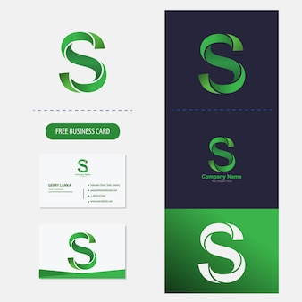 Buchstabe s-logo premium-vektor