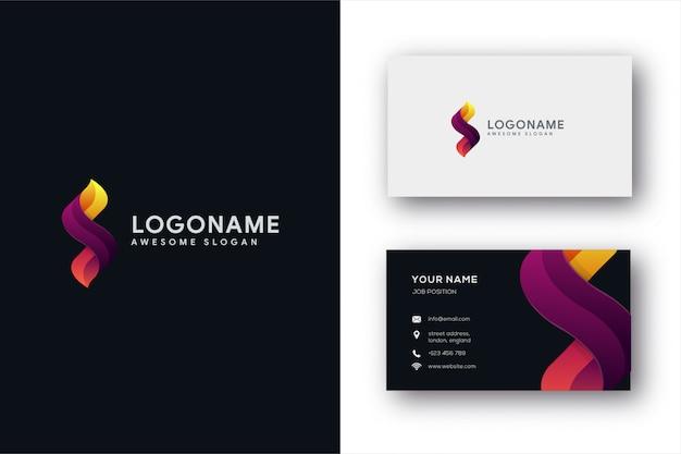 Buchstabe s logo und visitenkarte vorlage