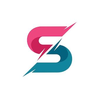 Buchstabe s logo vektor