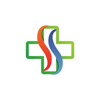 Buchstabe s medizinischer logo-vektor