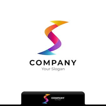 Buchstabe s mit pfeil bunte logo-design-vorlage