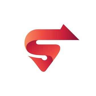 Buchstabe s pfeil logo vektor