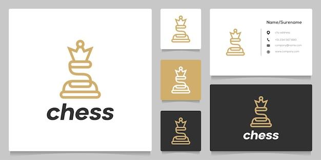 Buchstabe s schachfigur wettkampfsportstrategie linie umriss logo-design