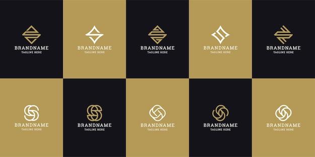 Buchstabe s ursprüngliche logo-symbol-entwurfsvorlage. elegant, modern, luxuriös.