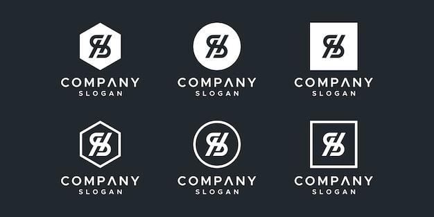 Buchstabe sh inspirierendes logo-design