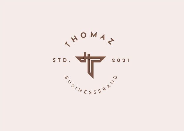 Buchstabe t logo-design-vorlage illustrationen