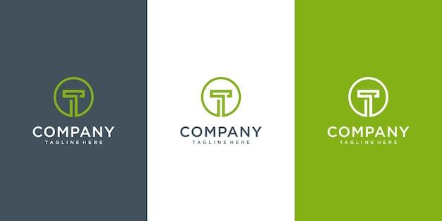 Buchstabe t logo-design