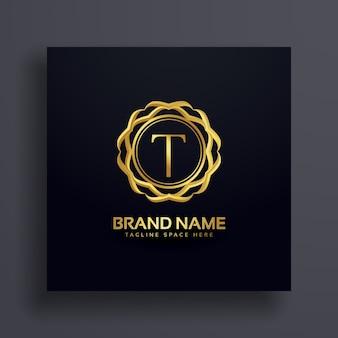 Buchstabe t luxus logo konzept design