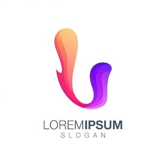 Buchstabe u farbverlauf logo