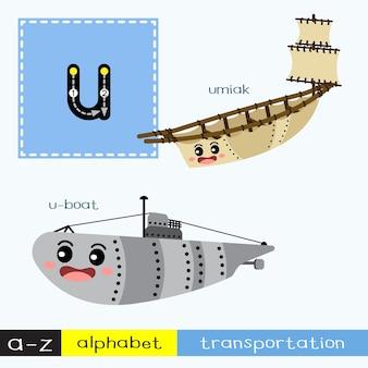 Buchstabe u kleinbuchstabe transportvokabular