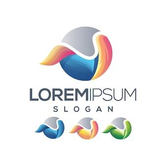Buchstabe u logo farbverlauf