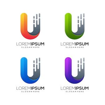 Buchstabe u logo symbol geschäft