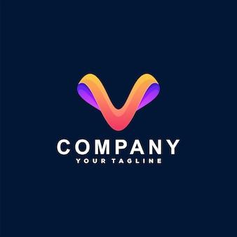 Buchstabe v-logo