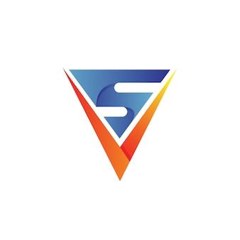 Buchstabe v und s logo design