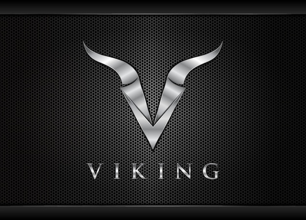 Buchstabe v wikinger-logo buchstabe v logo-design