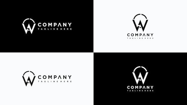 Buchstabe w logo design premium-vektor
