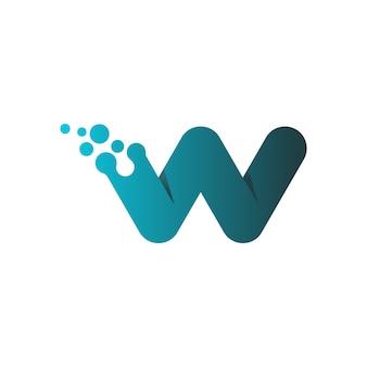 Buchstabe w logo design