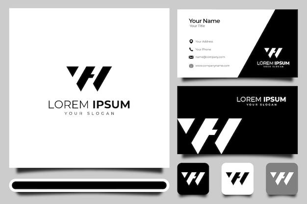 Buchstabe w logo kreatives design und visitenkartenvorlage