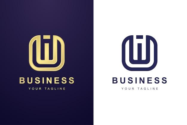 Buchstabe w-logo mit abstraktem konzept