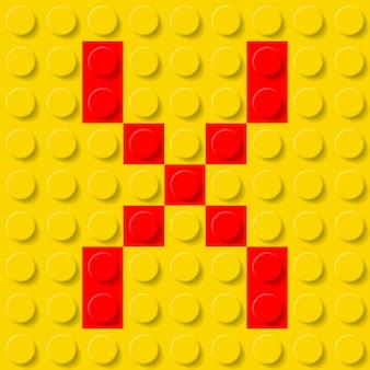 Buchstabe x in der baukastenillustration