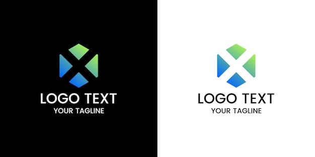 Buchstabe x logo-design-vektor