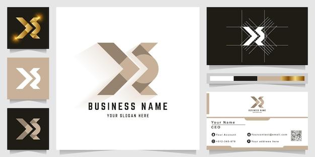 Buchstabe x oder xe monogramm-logo mit visitenkarten-design
