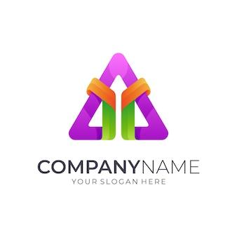 Buchstabe y + dreieck-logo