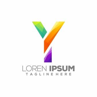 Buchstabe y logo vorlage