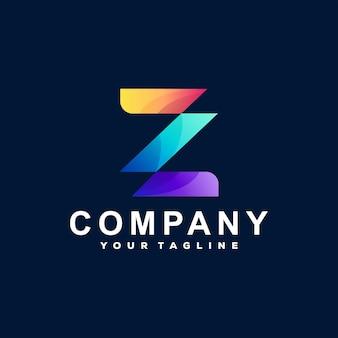 Buchstabe z farbverlauf logo design