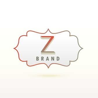 Buchstabe z logo design konzept