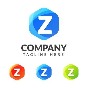 Buchstabe z-logo mit buntem geometriedesign