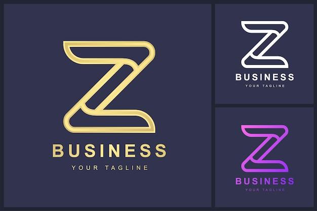 Buchstabe z-logo mit umrisskonzept